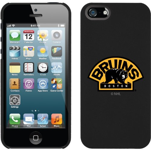 Great Sale Boston Bruins® - Briuns Bear design on a Black iPhone 5s / 5 Thinshield Snap-On Case by Coveroo