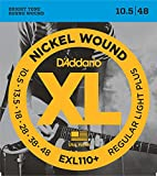 【国内正規品】 D'Addario ダダリオ エレキギター弦 XL ニッケルラウンドワウンド レギュラーライトプラス(10.5-48) EXL-110+ EXL110+