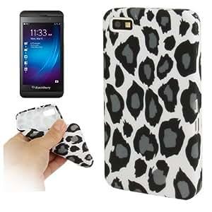 Grey Leopard Pattern TPU Case for Blackberry Z10