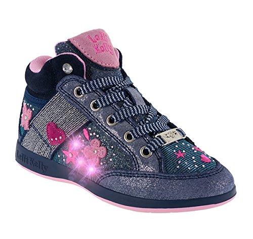 Lelli Kelly 6412 Sneakers Bambina grigio glitter o blu glitter (27, Grigio)