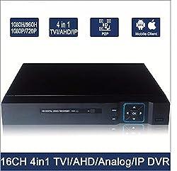 UB-DVR TVI/AHD/Analog/IP 16 Channel DVR IP Camera to Analog DVR H.264 Network DVR CCTV DVR