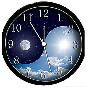 glow in the dark wall clock yin yang 3