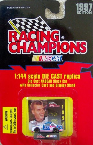 1997 Edition Racing Champions Jeremy Mayfield #37 1:144 Scale Replica Die Cast Replica w/Collector Card and Display Stand