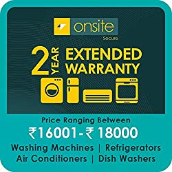 Onsite 2-year extended warranty for Large Appliance (Rs. 16001 to < 18000)