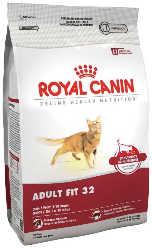 See Royal Canin Dry Cat Food, Adult Fit 32 Formula, 3.5-Pound Bag