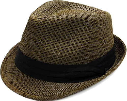 ashopz-women-men-summer-double-colors-straw-fedora-hat-w-rasta-band-brown-sm