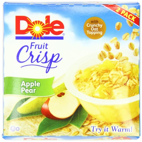 Dole Fruit Crisp, Apple Pear, 2 Count Cups (Pack Of 8)
