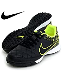 Nike Tiempo Genio Leather TF Junior - Black/Black/Volt 4