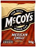 Mccoys Ridge Cut Mexican Chilli Flavour Potato Crisps 50 G (pack Of 36)