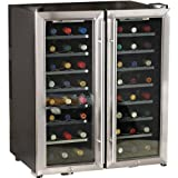 Silent 48 Bottle 2-Zone Wine Refrigerator (Stainless Steel)