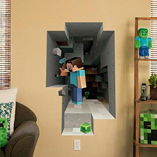 Minecraft Wall Decal Decor Steve Home Decor