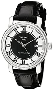Tissot Men's T0974071605300 Bridgeport Analog Display Swiss Automatic Black Watch