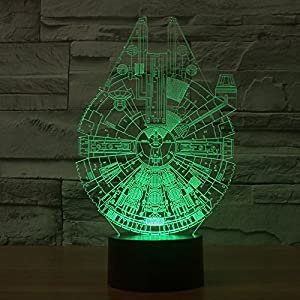 ADOGO LED 3D Lamp - Kids Desk Room Art Sculpture Lights up and Produces Unique Lighting Effects and 3D Visualization - Amazing Optical Illusion ... by ADOGO