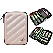 BUBM Electronics Accessories Organizer Travel Carrying Case Digital Storage Bag X Series L Gold Gold(L) L
