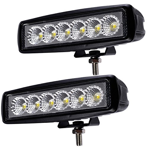 2 X Fog Light 6.3 Inch 18w LED Work Light Bar Flood Driving Off Road 4wd (18w Led Driving Lights compare prices)