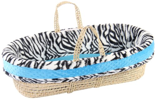 Baby Doll Moses Basket Set, Blue