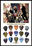 Iron Maiden New Gold Edition Guitar Pick Display With 15 Guitar Picks