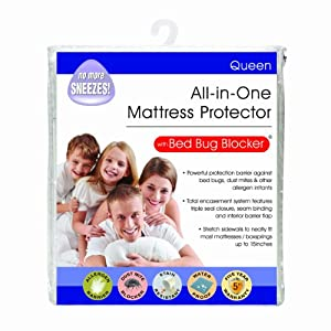 Bed Bug Blocker Queen Non-Woven Zip Mattress Protector