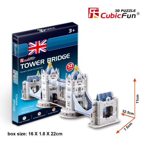 CubicFun 3D Puzzle S-Series Tower Bridge - London