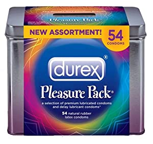 Durex Pleasure Pack 54 Latex Condoms