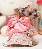 大和撫子!犬猫用浴衣4サイズ(ブラックorピンク)着物和服夏祭りコスプレ(XS,ピンク)