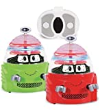 Kid Galaxy Remote Control Spinning Robots with Sound, in Red