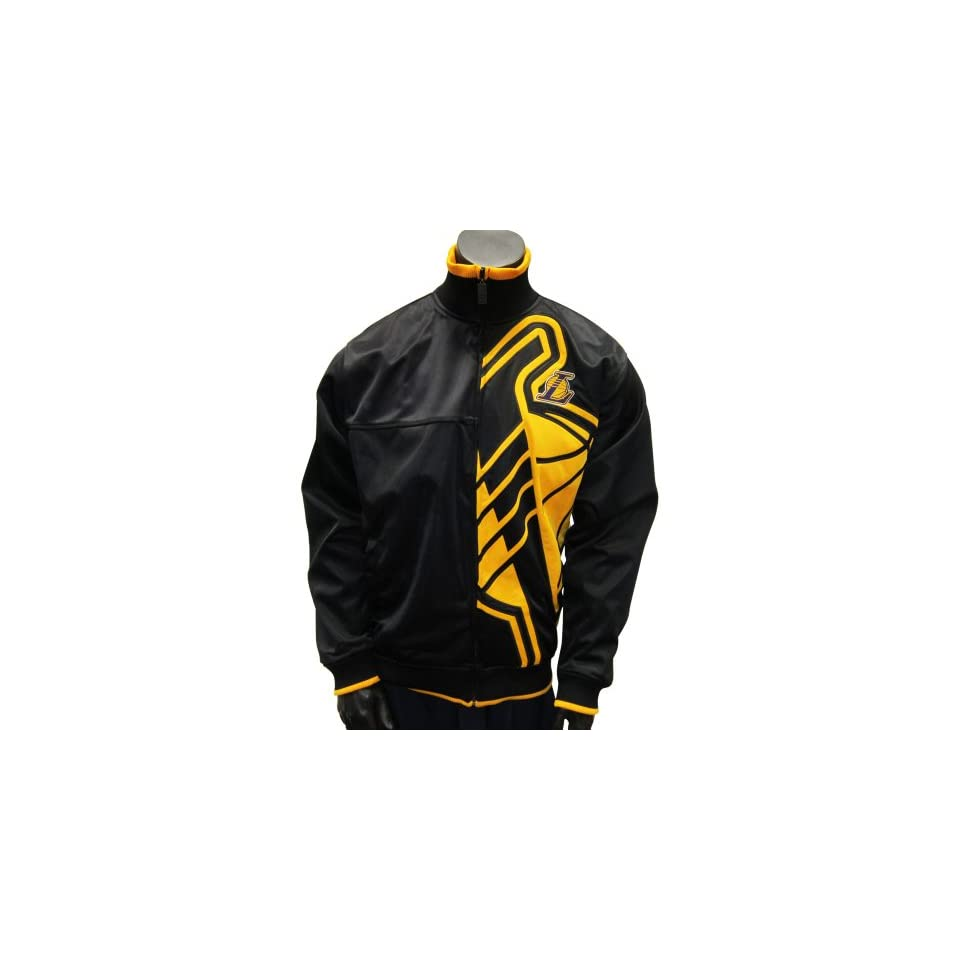 Los Angeles Lakers Vanguard Yellow Logo Black Track Jacket Large