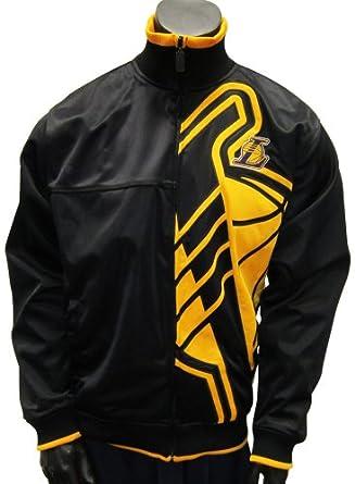 Amazon.com: Los Angeles Lakers Vanguard Yellow Logo Black Track Jacket