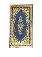 L'Eden del Tappeto Alfombra Kerman Azul / Marfil 216  x  118 cm