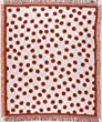 "Tangerine Polka Dots Retro Afghan Throw Blanket 50"" x 60"""