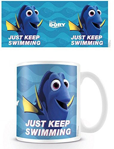 Alla Ricerca Di Dory - Just Keep Swimming Tazza Da Caffè Mug (9 x 8cm)