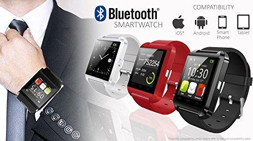 Indigi Smartwatch for All Bluetooth Enabled Smartphones - Black