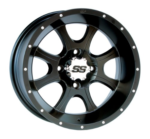 ITP SS108 Black Front Wheel - 14x6, 4+3 , Color: Black 12SS203BX