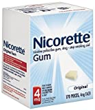 Nicorette Stop Smoking Aid, 4 mg, Gum, Original 170 pieces