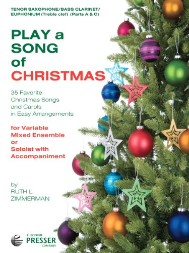 Play A Song Of Christmas - 35 Favorite Christmas Songs and Carols In Easy Arrangements (Tenor Saxophone Book)