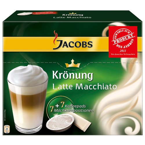 Choose Jacobs Krönung Latte Macchiato, 7 Coffee Pods + Topping by Kraft Foods