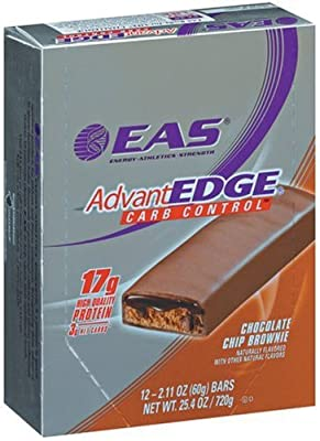 EAS AdvantEdge Carb Control Nutrition Bar, Chocolate Chip Brownie