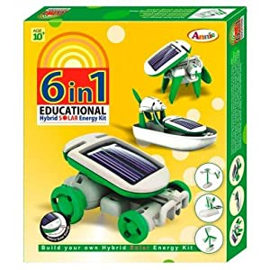 Do It Yourself 6 In 1 Educational Hybrid Solar Energy Kit