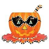 Glitterville Halloween Pumpkin Punch Bowl - 3 Piece Set