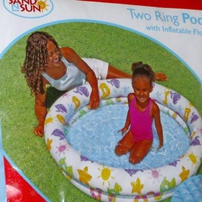 Inflatable Vinyl Kids Two Ring Swimming Splash Pool