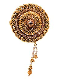 Sheetal Creations Brown Copper With Gold Plated Hair Clip For Women (0080-SCHC)