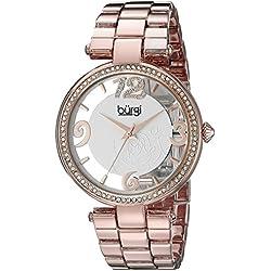 Burgi BUR148RG Quartz Rose Gold Swarovski Womens Bracelet Watch