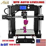 ANET A6 Auto Levelling Upgrade 3D Printer Reprap i3 High Precision Acrylic Frame LCD Monitor Screen with 16GB SD Card Support ABS PLA HIPS PVA WOOD Filament
