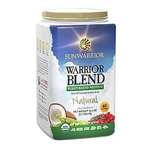 Sunwarrior Warrior Blend Raw Vegan Protein Powder, Natural 2.2 lbs