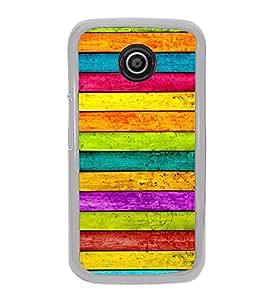 Colourful Wooden Pattern 2D Hard Polycarbonate Designer Back Case Cover for Motorola Moto E2 :: Motorola Moto E Dual SIM( 2nd Gen) :: Motorola Moto E 2nd Gen 3G XT1506 :: Motorola Moto E 2nd Gen 4G XT1521