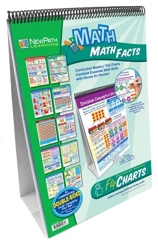 NewPath Learning Math Facts Curriculum Mastery Flip Chart Set, Grade 2-5 (Math Facts Chart compare prices)