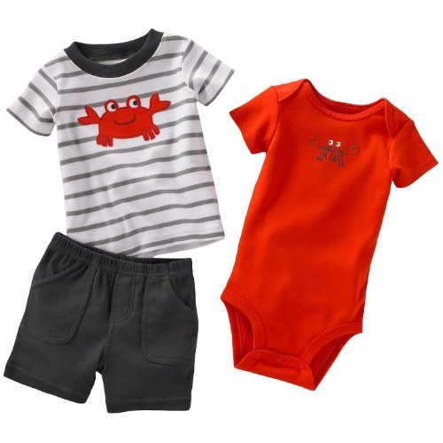 Carters Pinch Me I'm Cute Crab Set RED 6 Mo