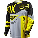 Fox Head Men's Demo Long Sleeve Jersey Grey/Yellow