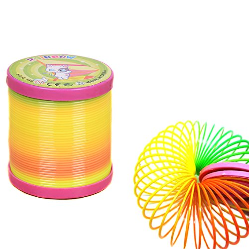 Plastic Rainbow Coil/Spring, bouncing,magic toy - hours of fun making it move, everyone's had one! A great stocking filler idea for Boys & Girls