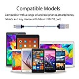 Asstar Universal Micro USB Cable 2.0 Nylon Braided 3ft 6ft 10ft Extra Long USB Charging Cable for Android, Samsung Galaxy, HTC, Motorola, Nokia, Android, and More (3Pcs 3ft 6ft 10ft)